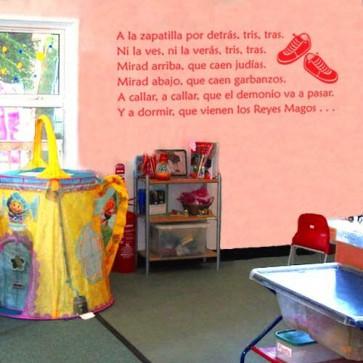 Vinilo de texto INFANTIL Zapatilla por detrás