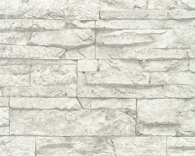 papel pintado pared piedra blanca - Pared Piedra