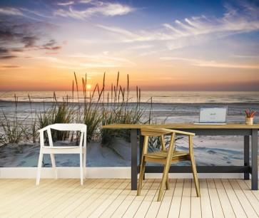 Fotomural playa de tarde