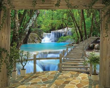 Puente entre cascadas