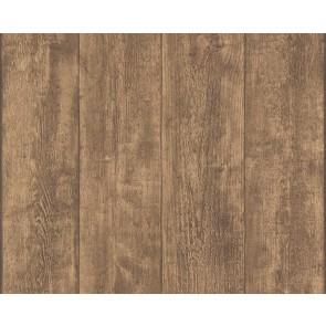 Papel pintado tablones de madera oscura
