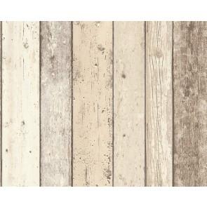 Papel pintado madera multicolor