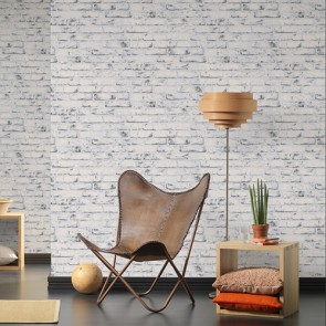 Papel de pared ladrillo blanco