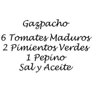 Vinilo receta de Gazpacho