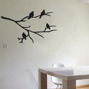 Vinilo Rama con Pájaros