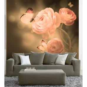 Fotomural Mariposas Rosas