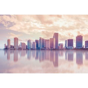 Fotomural Miami en tonos pastel